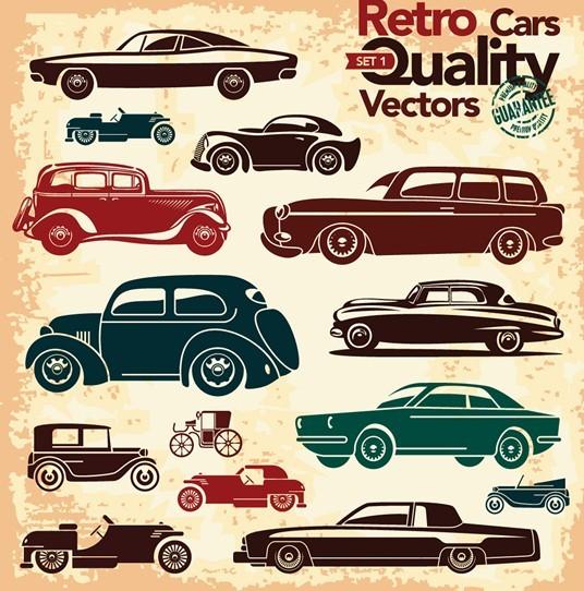 Retro High Quality Vector Car Labels