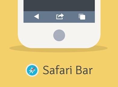 Safari Web Browser Bar PSD