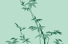 Simple Classical Bamboo Vector Illustration 04