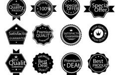 Simple Dark Vector Badge Collection