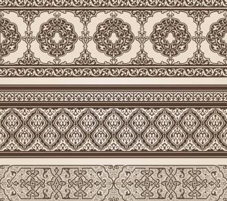 Vector Vintage Royal Floral Design Elements 02