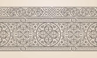 Vector Vintage Royal Floral Design Elements 03