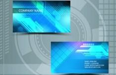 Clean Technology Business Card Design Template Vector 04