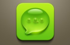 Droplet & Air Bubbles SMS Icon PSD
