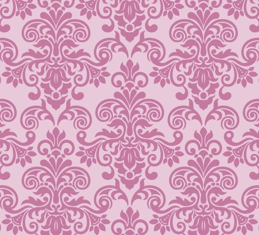 Pink Vintage Floral Pattern Background 05