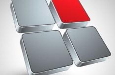 3D Metal Abstract Logo Design Vector 03