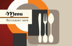 Classical Restaurant Menu Cover Design Vector 01