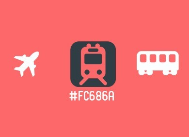 Flat Transport Icons PSD