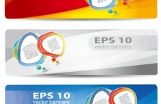 Vector Colorful and Rounded Banner Design 01