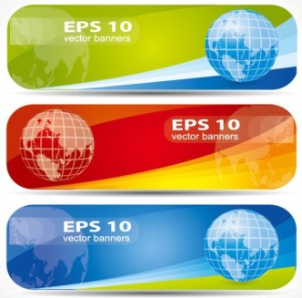 Vector Colorful and Rounded Banner Design 02