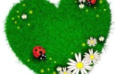 Vector Green ECO Concept Grass Background 05