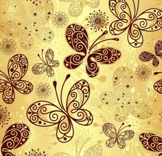 Vector Colorful Butterfly Background 02