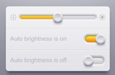 Brightness Regulation UI Design PSD