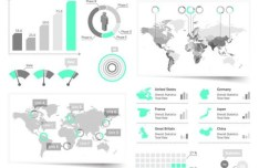Clean Vector Infographic and Data Visualization Design Elements 01