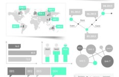 Clean Vector Infographic and Data Visualization Design Elements 04