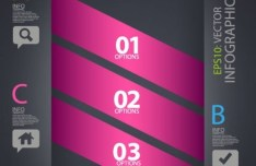 Creative Vector Infographic Labels with Numbers and Letters 02
