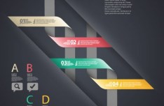 Creative Vector Infographic Labels with Numbers and Letters 05
