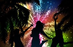 Fashion Beach & Night Party Background Vector 01