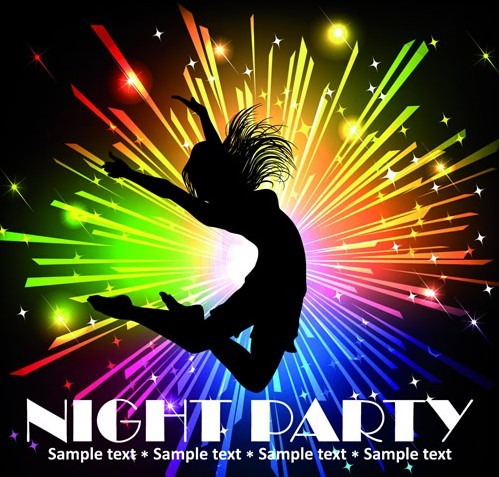 Fashion Beach & Night Party Background Vector 04