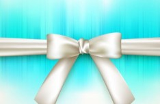 Fresh and Clean Cards with Ribbon Bows Vector 01