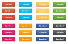 Set Of Simple and Clean Download Buttons (PSD)