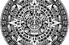 Vector Black and White Ancient Egypt Patterns 01
