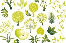 Vector Green Plants Collection 01