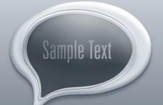 3D Paper Speech Bubble Template Vector 01