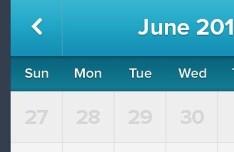Clean Blue Calendar Interface PSD