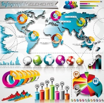 Vector Colorful Infographic Elements Collection 01