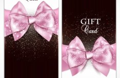 Vector Fantastic Gift Cards with Ribbon Bows 01