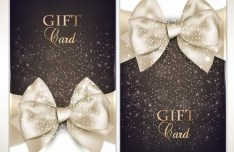 Vector Fantastic Gift Cards with Ribbon Bows 02