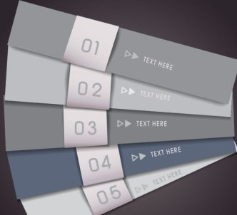 Vector Paper-Like Banners with Numbers 05