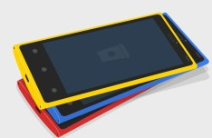 3D Flat NOKIA Lumia 920 PSD MockUp