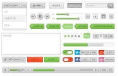Clean & Minimal Web UI Kit PSD