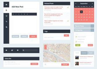 Simple Blog UI Kit PSD