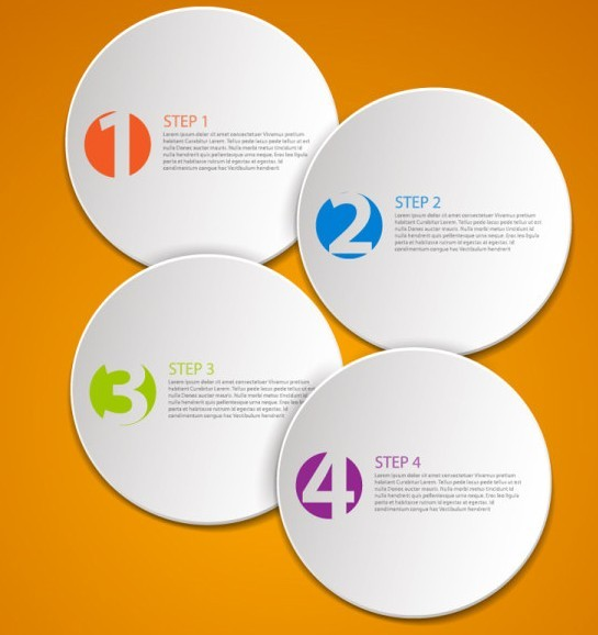 Free Vector Data Display Labels With Numbers For