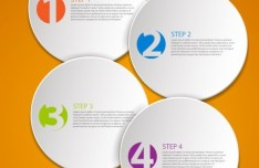 Vector Data Display Labels With Numbers For Infographic 03