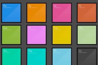 Flat Adobe CS6 Splash Screens PSD