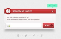 Notification Box UI PSD