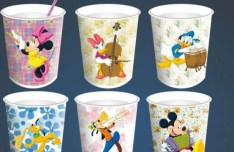 Vector Disney Characters On Paper Cups
