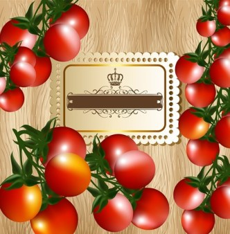 Delicious Tomato Text Background Vector 02