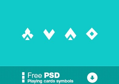 Playing Cards Symbol Icons PSD