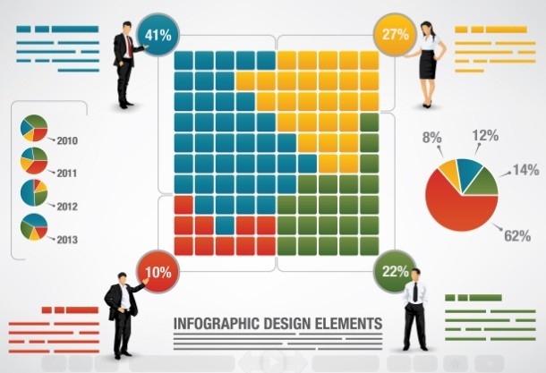 Vector Business Infographic Design Elements 01