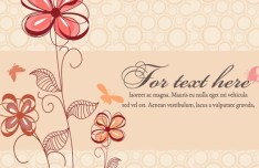 Cartoon Hand Painted Floral Background Vector 04