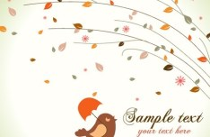 Cartoon Hand Painted Floral Background Vector 06