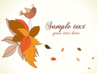 Cartoon Hand Painted Floral Background Vector 07
