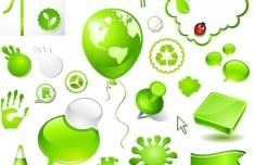 Green ECO Concept Vector Design Elements