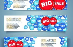 Vector Big Sale Banners