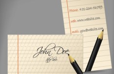 Clean Notebook Like Business Card Vector